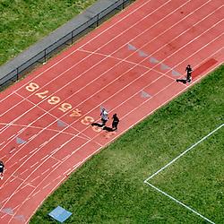 Aerial view of Villanova running Track