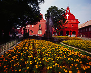 Christ Church and other buildings built by the Dutch in the 16th century during their occupation of Malacca, Dutch Square, Malacca, Malaysia.