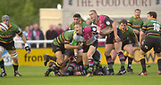 Twickenham, Surrey. England, UK.,02.05.2003,  Scrum Half, Scott BEMAND,  passes the ball from the back of the scrum,  Zurich Premiership Rugby match, Harlequins v Northampton Saints, played at the Stoop Memorial Ground, [Mandatory Credit:Peter Spurrier/ Intersport Images]