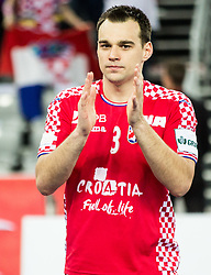 Marino Maric of Croatia after the handball match between National teams of Croatia and France on Day 7 in Main Round of Men's EHF EURO 2018, on January 24, 2018 in Arena Zagreb, Zagreb, Croatia.  Photo by Vid Ponikvar / Sportida