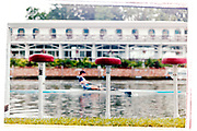Henley on Thames, England, 1999 Henley Royal Regatta, River Thames, Henley Reach,  [© Peter Spurrier/Intersport Images], Buffer Stools, seats by the floating Grandstand,