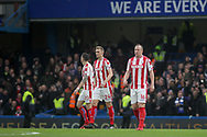 Darren Fletcher and Charlie Adam of Stoke City look on dejected after going 1-0 down early in the match.<br /> Premier league match, Chelsea v Stoke city at Stamford Bridge in London on Saturday 30th December 2017.<br /> pic by Kieran Clarke, Andrew Orchard sports photography.