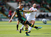 Rugby Union - 2020 / 2021 Gallagher Premiership - Round 21 - Northampton Saints vs Exeter Chief - Franklin Gardens.<br /> <br /> Northampton Saints' Dan Biggar in action during this afternoon's game.<br /> <br /> COLORSPORT/ASHLEY WESTERN