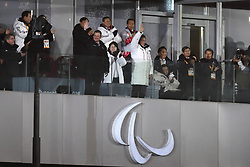 March 9, 2018 - Pyeongchang, GANGWON, SOUTH KOREA - March 09, 2018-Pyeongchang, South Korea-South Korean President Moon Jae-in and IPC President Andrew Parsons attends the opening ceremony of the PyeongChang 2018 Paralympic Games at the PyeongChang Olympic Stadium in Pyeongchang, South Korea. (Credit Image: © Gmc via ZUMA Wire)