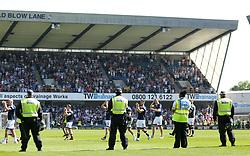 Millwall's lap of appreciation with riot police on the pitch