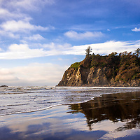 The sea stacks at Ruby Beach on the Pacific coast in Olympic National Park.