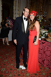 BEN ELLIOT and his wife MARY CLARE at The Animal Ball in aid of The Elephant Family held at Lancaster House, London on 9th July 2013.