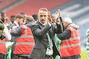 Leigh Griffiths applauds the fans during the William Hill Scottish Cup Final match between Heart of Midlothian and Celtic at Hampden Park, Glasgow, United Kingdom on 25 May 2019.