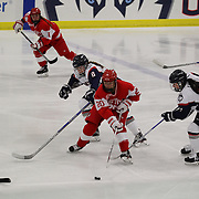 Samantha Sutherland, Boston University, in action during the UConn Vs Boston University, Women's Ice Hockey game at Mark Edward Freitas Ice Forum, Storrs, Connecticut, USA. 5th December 2015. Photo Tim Clayton