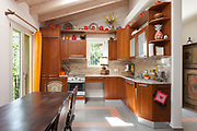 Architecture, interior of a country house, domestic kitchen