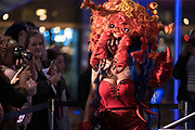 """Model Kali North displays the """"Armored Enchantress"""" hair sculpture during """"Hair Affair: The Art of Hair"""" at Madison Museum of Contemporary Art in Madison, WI on Thursday, April 25, 2019. The sixth biennial brought an array of designers and stylists from across Wisconsin to create under the theme of """"Zodiac."""""""