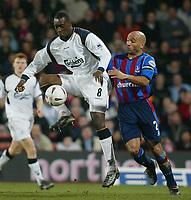 Fotball, 26. januar 2003, Crystal Palace V Liverpool FA cup 4th round. Selhurst park.<br />Emile Heskey og Curtis Fleming <br />Foto: Scott Heavey, Digitalsport