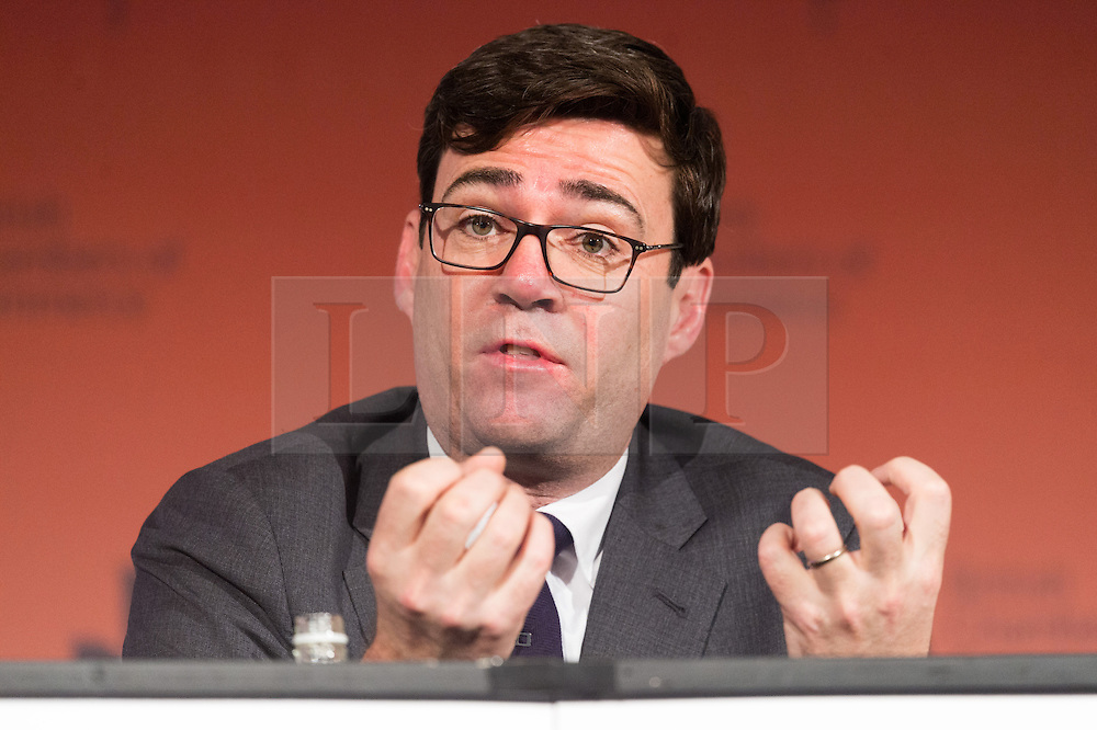 © Licensed to London News Pictures. 28/02/2017. Manchester Mayoral Labour candidate ANDY BURNHAM speak at the British Chambers of Commerce Annual Conference 2017 on growing business in the regions and nations.<br /> London, UK. Photo credit: Ray Tang/LNP