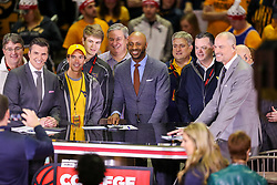 Jan 27, 2018; Morgantown, WV, USA; ESPN College Gameday on set before the Big 12/SEC challenge game between West Virginia and Kentucky at WVU Coliseum. Mandatory Credit: Ben Queen-USA TODAY Sports
