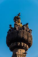 Pratapa Malla Column, Durbar Square, Kathmandu, Nepal.