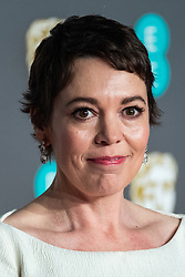 Olivia Colman attending 72nd British Academy Film Awards, Arrivals, Royal Albert Hall, London. 10th February 2019