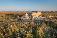 Boulders of qurtzite in Touch the Sky Prairie, southwest Minnesota