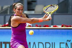 May 9, 2017 - Madrid, Madrid, Spain - ROBERTA VINCI (ITA) returns the ball to Simona Halep (ROU) in round 2 of the 'Mutua Madrid Open' 2017. Halep won 6:3, 2:6, 7:6 (Credit Image: © Matthias Oesterle via ZUMA Wire)