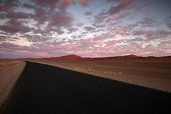 NAMIBIA SOSSUSVLEI 21APR14 - Empty desert road during sunset in the Sossusvlei, Namibia.<br /> <br /> <br /> <br /> jre/Photo by Jiri Rezac<br /> <br /> <br /> <br /> © Jiri Rezac 2014