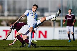 Josip Calusic of NK Celje and Luka Majcen of NK Triglav  during the football match between NK Triglav Kranj and NK Celje in 25. Round of Prva liga Telekom Slovenije 2019/20, on March 8, 2020 in Sportni park Kranj, Slovenia. Photo by Grega Valancic / Sportida