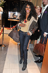 SINITTA at a reception to unveil the ISAF World Match Racing Tour Championship Trophy at Garrard, 24 Albemarle Street, London W1 on 7th November 2011.
