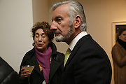 SUSAN HILLER AND TERRY DANZIGER-MILLS, Private view- Vija Celmins, Ewan Gibbs and Agnes Martin. timothy Taylor Gallery, Dering St. London. 30 March 2006. ONE TIME USE ONLY - DO NOT ARCHIVE  © Copyright Photograph by Dafydd Jones 66 Stockwell Park Rd. London SW9 0DA Tel 020 7733 0108 www.dafjones.com