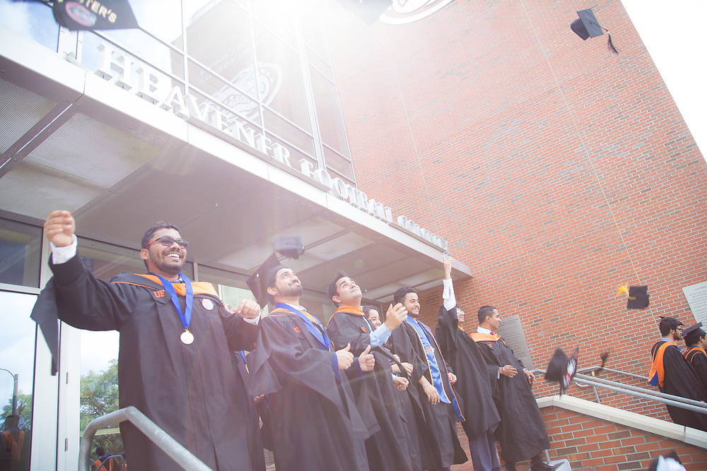 The University of Florida's Herbert Wertheim College of Engineering celebrates spring graduation for its masters and PhD students at the O'Connell Center in Gainesville, Florida.