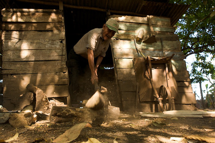 """In Nicoya work is a way of life. One centenarian we met prayed every night before bed that """"the dead souls rest in peace and the live ones have the energy to work""""."""