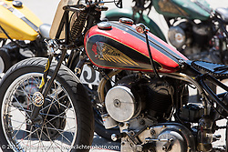 Indian Racer at the Vintage road races at New Hampshire Motor Speedway during Laconia Motorcycle Week. Laconia, NH, USA. June 14, 2015.  Photography ©2015 Michael Lichter.