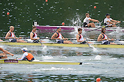 Lucerne, SWITZERLAND,  GBR M8+, left to right, James ORME, Tom SOLESBURY, Danial RITCHIE, Tom RANSLEY, .move away from the start, of the third round of the  2009 FISA World Cup,  on the Rottsee regatta Course, Friday  10/07/2009 [Mandatory Credit Peter Spurrier/ Intersport Images].