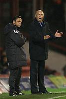 Brentford manager, Uwe Rösler (right) and Oldham manager, Paul Dickov (left)