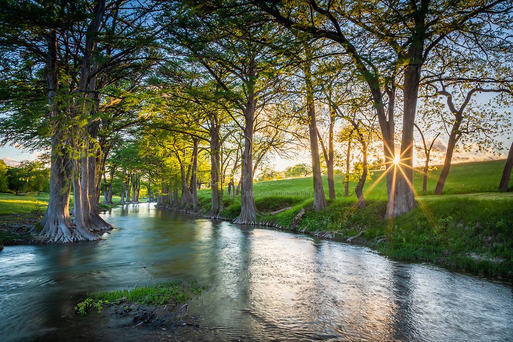 The Guadalupe River runs from Kerr County, Texas, to San Antonio Bay on the Gulf of Mexico. It is a popular destination for rafting, fly fishing, and canoeing. Larger cities along it include Kerrville, New Braunfels, Seguin, Gonzales, Cuero, and Victoria. It has several dams along its length, the most notable of which, Canyon Dam, forms Canyon Lake northwest of New Braunfels.