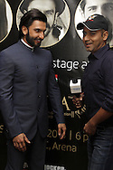 DURBAN - 5 September 2013 - Bollywood star Ranveer Singh has a moment of fun with interviewer Faridoon Shahrya of Bollywood Hungama in Durban, South Africa, where Singh is attending the South Africa India Film and Television Awards. Picture: Giordano Stolley