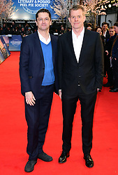 Peter Czernin (left) and Graham Broadbent attending The Guernsey Literary and Potato Peel Pie Society world premiere held at Curzon Mayfair, London.