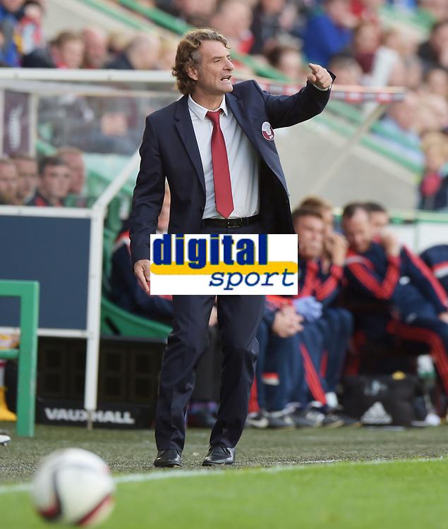 05/06/15 INTERNATIONAL CHALLENGE MATCH<br /> SCOTLAND v QATAR<br /> EASTER ROAD STADIUM - EDINBURGH<br /> Qatar manager Jose Daniel Carreno