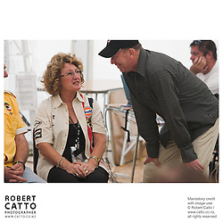 Jan McLaren;Michael Garlick at the Launch of the Bruce McLaren Movie project at the A1 Grand Prix of New Zealand at the Taupo Motorsport Park, Taupo, New Zealand.