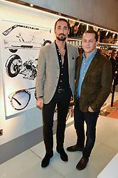 LONDON, ENGLAND 8 DECEMBER 2016: Hugo Taylor, Charlie Morris at a party to celebrate the collaboration of Taylor Morris Eyewear and The Morgan Motor Company held at Harvey Nichols, Knightsbridge, London, England. 8 December 2016.