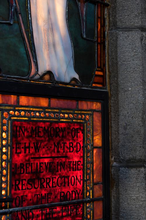 Window 19 on plan.<br /> <br /> St. Saviour's Episcopal Church, Bar Harbor, Maine.
