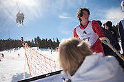 Snow shovel racing world championships in Angel Fire New Mexico.