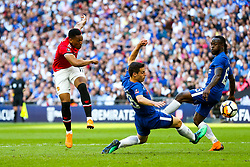 Anthony Martial of Manchester United shoots - Rogan/JMP - 19/05/2018 - FOOTBALL - Wembley Stadium - London, England - Chelsea v Manchester United - FA Cup Final.