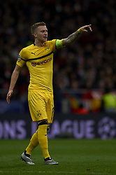 November 6, 2018 - Madrid, Spain - Marco Reus of Borussia Dortmund during the Group A match of the UEFA Champions League between AtleticoLucien Favre of Borussia Dortmund Madrid and Borussia Dortmund at Wanda Metropolitano Stadium, Madrid on November 07 of 2018. (Credit Image: © Jose Breton/NurPhoto via ZUMA Press)