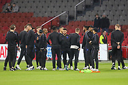 England players on pitch before the Friendly match between Netherlands and England at the Amsterdam Arena, Amsterdam, Netherlands on 23 March 2018. Picture by Phil Duncan.