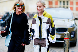 Street style, Jeanette Friis Madsen and Thora Valdimars arriving at Freya Dalsojo Spring Summer 2017 show held at Borsen, in Copenhagen, Denmark, on August 10, 2016. Photo by Marie-Paola Bertrand-Hillion/ABACAPRESS.COM