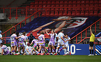 Rugby Union - 2019 / 2020 Heineken Cup - Final - Exeter Chiefs vs Racing 92 - Ashton Gate, Bristol<br /> <br /> Exeter Chiefs' Joe Simmonds celebrates as Luke Cowan-Dickie scores his sides first try.<br /> <br /> COLORSPORT/ASHLEY WESTERN