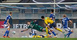 Edgar Babayan (Hobro IK) udligner til 2-2 under kampen i 3F Superligaen mellem Lyngby Boldklub og Hobro IK den 20. juli 2020 på Lyngby Stadion (Foto: Claus Birch).