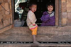 Unnamed children in Naver village, Dakcheung, near Sekong, Lao PDR