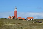 Texel is het grootste Nederlandse Waddeneiland. Het landschap op Texel is rijk en divers. Texel heeft behalve polders, brede zandstranden, duinen en graslanden ook heide, bos en kwelders. <br /> <br /> Texel is the biggest Dutch Wadden Island. The landscape on the island is rich and diverse. Texel has besides polders, wide sandy beaches, dunes and grasslands also heaths, woods and marshes.<br /> <br /> Op de foto / On the photo:  De vuurtoren Eierland staat op het noordelijkste punt van het eiland Texel, aan de Vuurtorenweg ten noorden van de woonkern De Cocksdorp. De naam is ontleend aan de locatie: het voormalige eiland Eierland.<br /> <br /> The lighthouse Eierland is on the northern tip of the island of Texel, the Vuurtorenweg north of the residential area of De Cocksdorp. The name comes from its location: the former island Eierland. Joke , Dymen , Patrick , Jeanneke