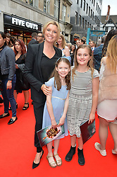 Tina Hobley and daughters Isabella Wallington, Olivia Wheeler arriving at The opening night of Wind in The Willows at the London Palladium, Argyll Street, London England. 29 June 2017.<br /> Photo by Dominic O'Neill/SilverHub 0203 174 1069 sales@silverhubmedia.com