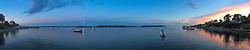 Dusk Over the Harbor, Castine, Maine, US