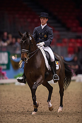 Missiaen Simon (BEL) - Vradin<br /> Grand Prix - Reem Acra FEI World Cup Dressage Qualifier - The London International Horse Show Olympia - London 2012<br /> © Hippo Foto - Jon Stroud